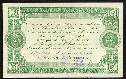 Chambre De Commerce  0.5 Centimes  1919 Issue Dimensions: 200 X 100, Type: JPEG